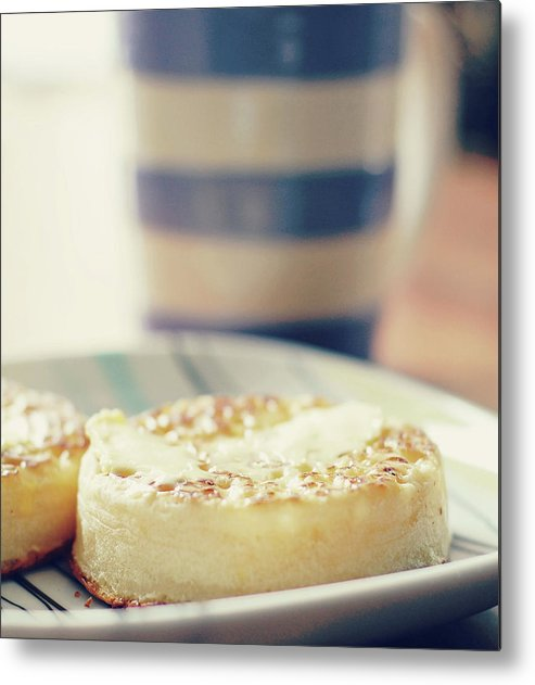 Healthy Eating Metal Print featuring the photograph Tea And Crumpets by Deborah Slater