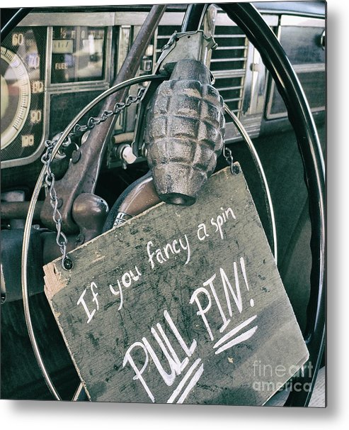 Hand Grenade Metal Print featuring the photograph The Art of Pulling Pins by Steven Digman