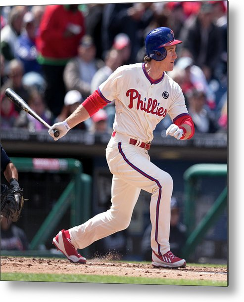 Citizens Bank Park Metal Print featuring the photograph Chase Utley by Mitchell Leff