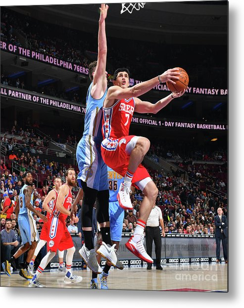 Nba Pro Basketball Metal Print featuring the photograph Ersan Ilyasova by Jesse D. Garrabrant