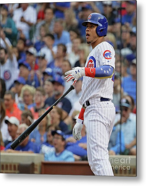 Three Quarter Length Metal Print featuring the photograph Willson Contreras by Jonathan Daniel