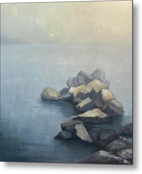 Metal Print featuring the painting Beacon by Mary Jo Van Dell