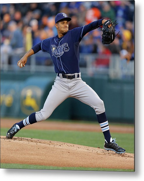 American League Baseball Metal Print featuring the photograph Chris Ray by Ed Zurga