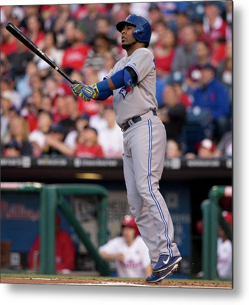 Second Inning Metal Print featuring the photograph Edwin Encarnacion by Mitchell Leff