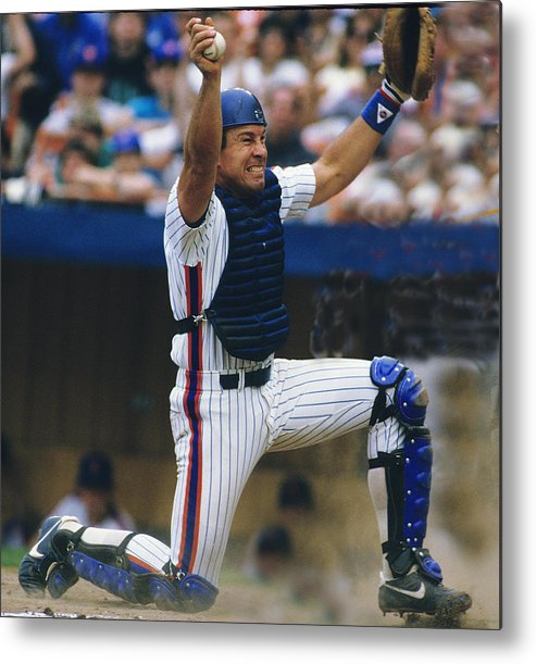 1980-1989 Metal Print featuring the photograph Gary Carter by Ronald C. Modra/sports Imagery
