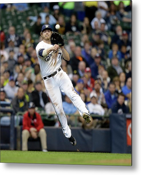 Ball Metal Print featuring the photograph Jordy Mercer and Mark Reynolds by Jeffrey Phelps