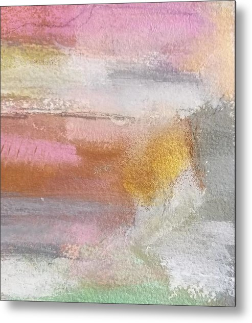 Abstract Metal Print featuring the painting Nothing Can Dim the Light by Patricia Byron