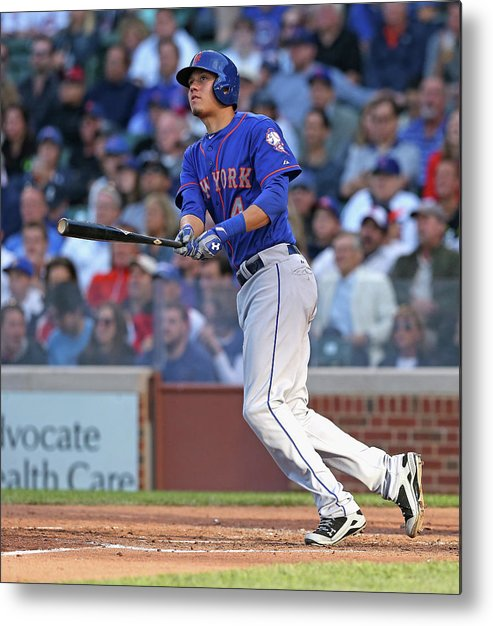 National League Baseball Metal Print featuring the photograph Wilmer Flores by Jonathan Daniel