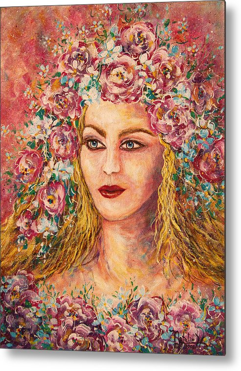 Goddess Metal Print featuring the painting Good Fortune Goddess by Natalie Holland