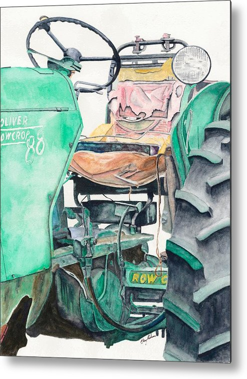 Tractors Metal Print featuring the painting Old Oliver by Gary Roderer