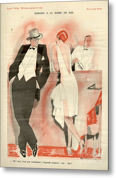 France Metal Print featuring the drawing 1920s France La Vie Parisienne Magazine by The Advertising Archives