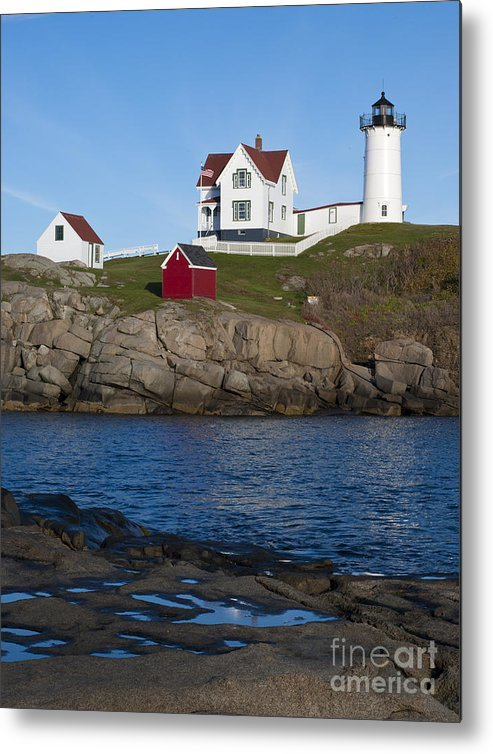Cape Neddick Metal Print featuring the photograph Cape Neddick Lighthouse by John Shaw