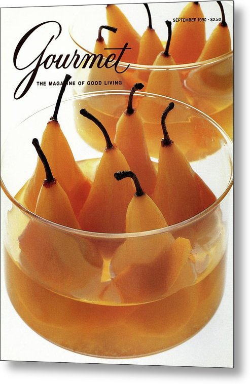 Food Metal Print featuring the photograph A Gourmet Cover Of Baked Pears by Romulo Yanes