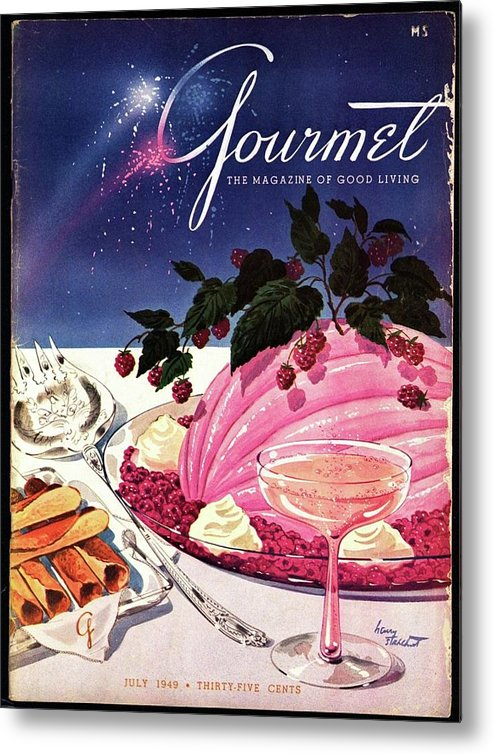Illustration Metal Print featuring the photograph A Gourmet Cover Of Mousse by Henry Stahlhut