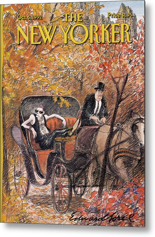 Artkey 50687 Eso Metal Print featuring the painting New Yorker October 5th, 1992 by Edward Sorel