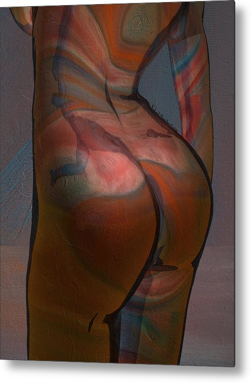 Figurative Metal Print featuring the painting Baby Got Back by Robert Maestas