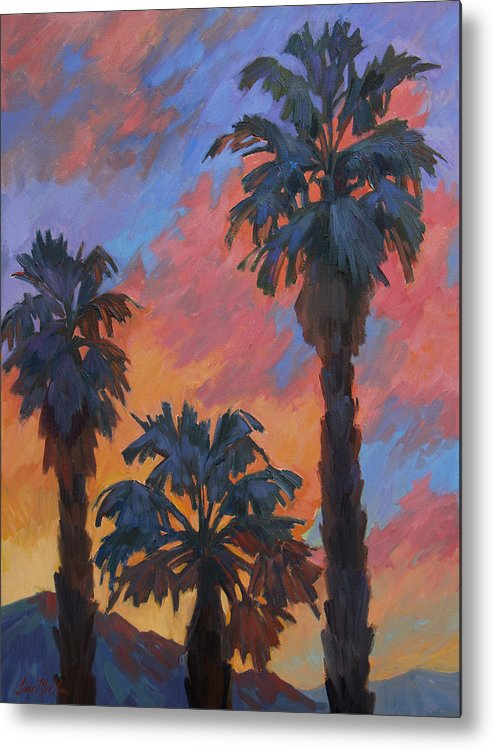 Casa Tecate Metal Print featuring the painting Casa Tecate Sunrise by Diane McClary