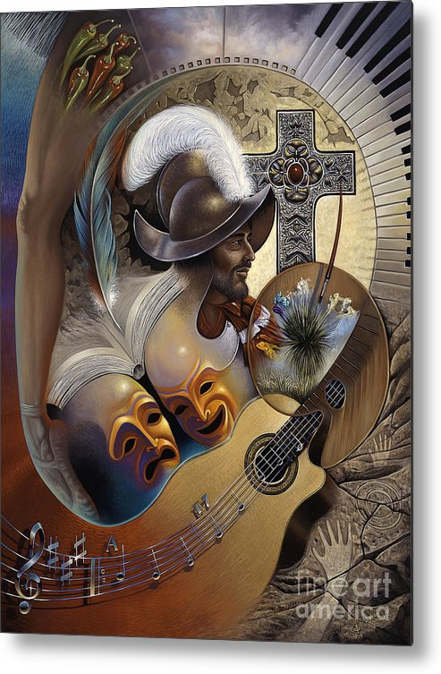 Culture Metal Print featuring the painting Color Y Cultura by Ricardo Chavez-Mendez