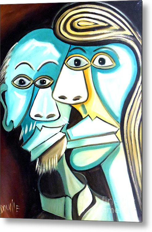 Couple Metal Print featuring the painting Couple by Amede Doualle