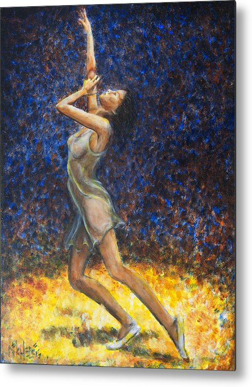 Dancer Metal Print featuring the painting Dancer X by Nik Helbig