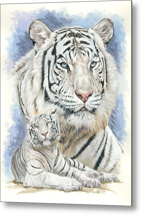 Big Cat Metal Print featuring the mixed media Dignity by Barbara Keith