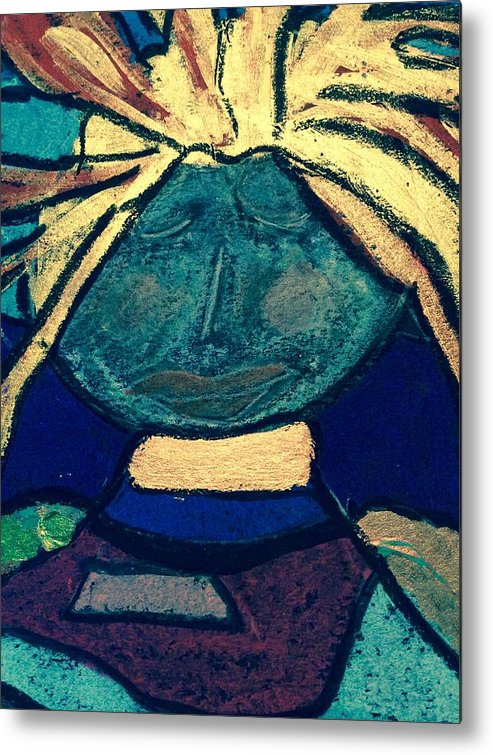 Fish File Metal Print featuring the painting Fish File Codex The Mother Word 17 by Clarity Artists