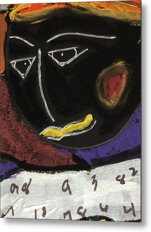 Fish File Metal Print featuring the painting Fish File Codex The Mother Word 27 by Clarity Artists
