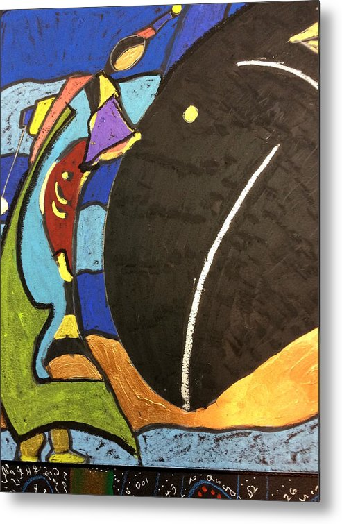 Fish File Metal Print featuring the painting Fish File Codex The Mother Word 29 by Clarity Artists