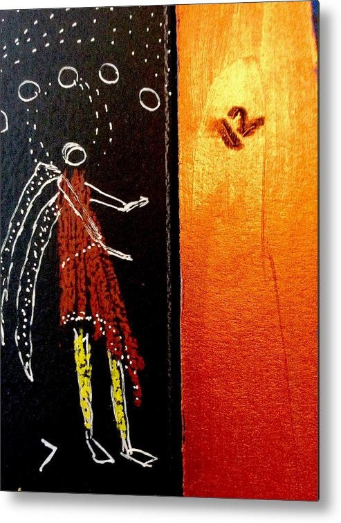 Fish File Metal Print featuring the painting Fish File Codex The Mother Word 34 by Clarity Artists