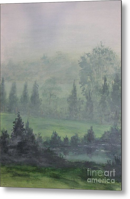 Painting Metal Print featuring the painting Foggy Bottom Tennessee by Dana Carroll