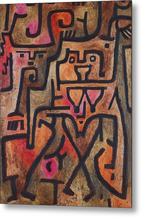 Paul Klee Metal Print featuring the painting Forest Witches by Paul Klee
