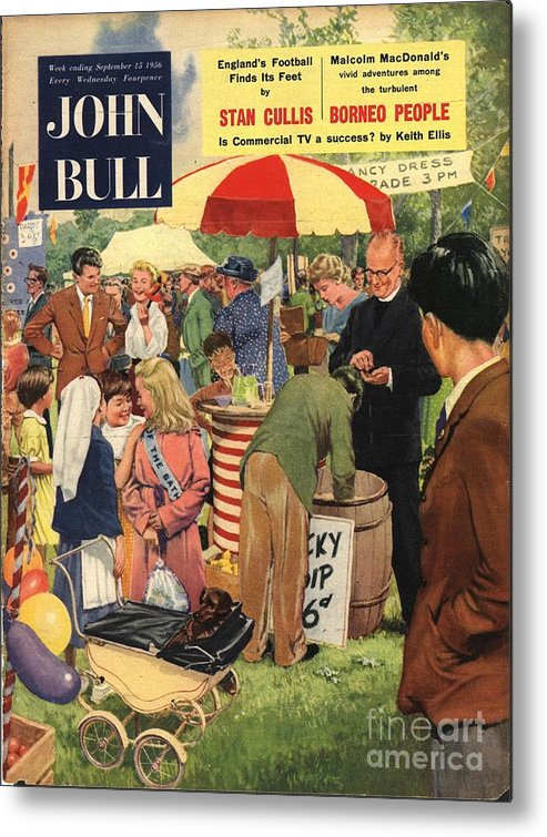 1950�s Metal Print featuring the drawing John Bull 1956 1950s Uk Schools by The Advertising Archives