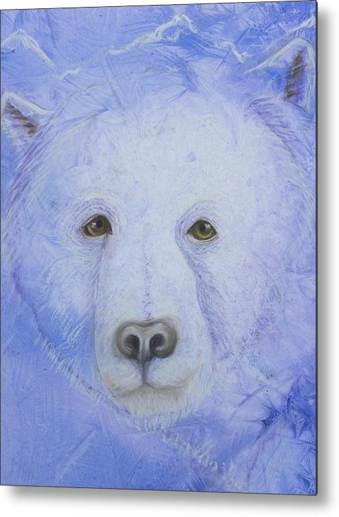 Kermode Bear Metal Print featuring the painting Kermode Bear by Rosemary Hayes