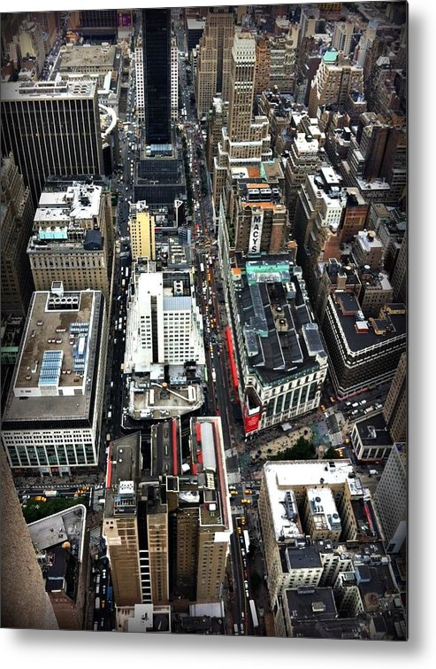 Macy's Metal Print featuring the photograph Macy's From Above by Jennifer Evans
