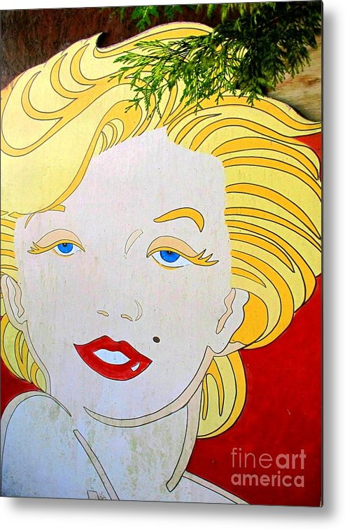 Woman Metal Print featuring the photograph Marilyn by Ethna Gillespie