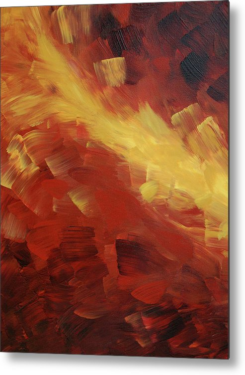 Fire Metal Print featuring the painting Muse In The Fire 1 by Sharon Cummings