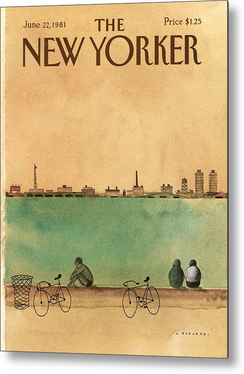 Leisure Metal Print featuring the painting New Yorker June 22nd, 1981 by Abel Quezada
