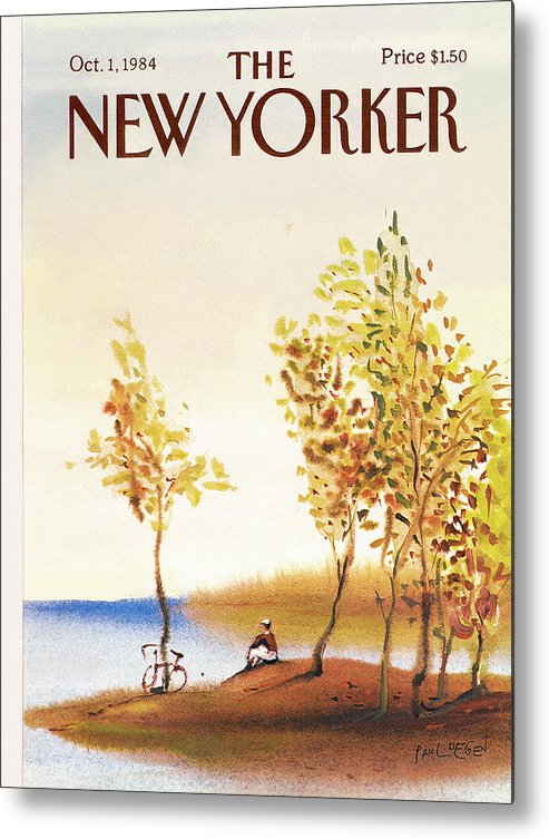 Leisure Metal Print featuring the painting New Yorker October 1st, 1984 by Paul Degen