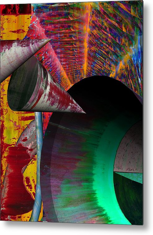 Abstract Metal Print featuring the painting No Philosophy by John Monson