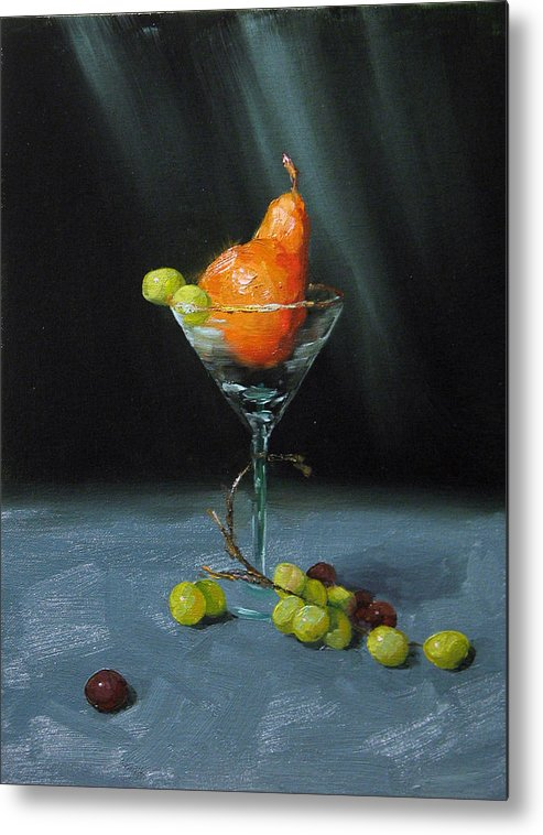 Pear Metal Print featuring the painting Pear Martini by Jason Walcott