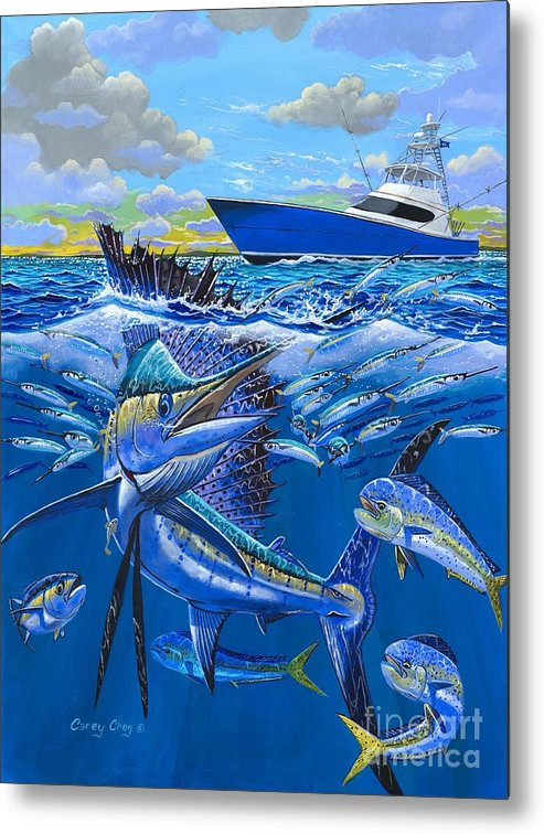 Sailfish Metal Print featuring the painting Reef Sail Off00151 by Carey Chen