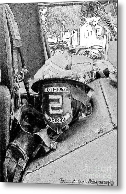 Fireman Metal Print featuring the photograph Rescue 2 by Tommy Anderson