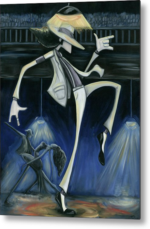 Smooth Metal Print featuring the painting Smooth Criminal by Tu-Kwon Thomas