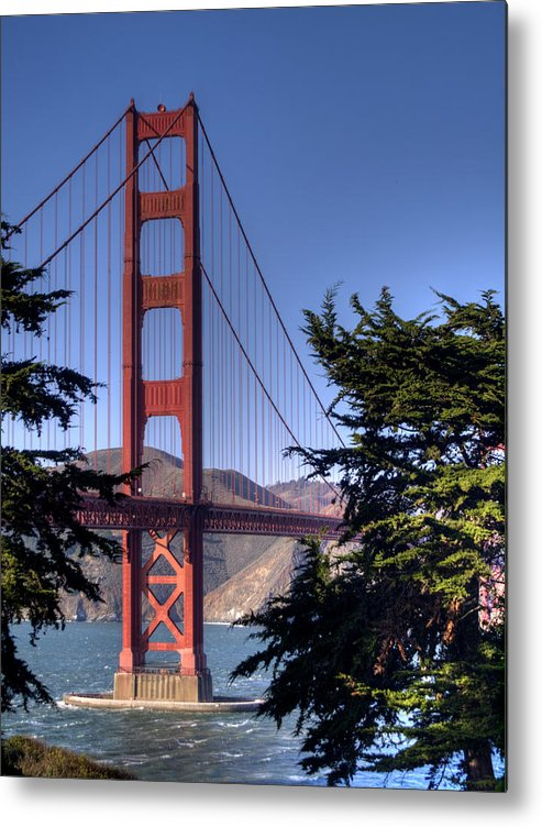 Golden Gate Bridge Metal Print featuring the photograph South Tower by Bill Gallagher