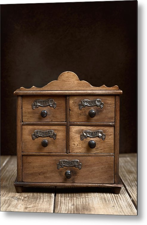 Spice Metal Print featuring the photograph Spice Cabinet by Amanda Elwell