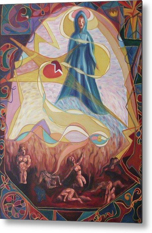 Spiritual Metal Print featuring the painting Spiritual Experience by Suzanne Marie Leclair