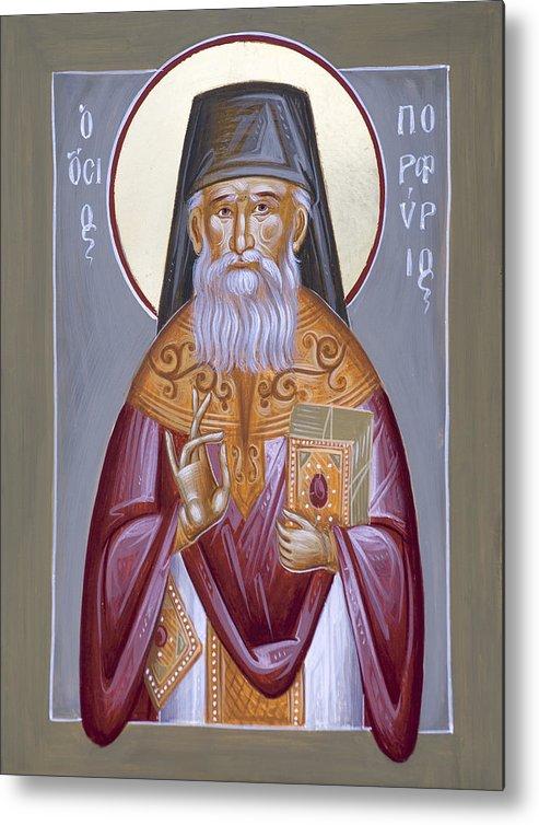 St Porphyrios Metal Print featuring the painting St Porphyrios The Kavsokalyvitis by Julia Bridget Hayes