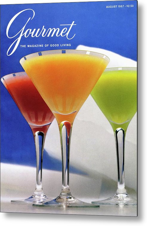 Food Metal Print featuring the photograph Summer Cocktails by Romulo Yanes