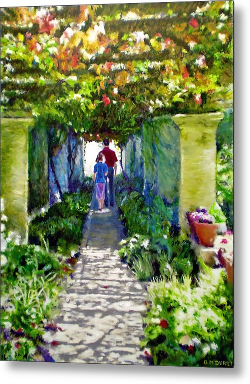 Vineyard Metal Print featuring the painting The Grape Trellis by Michael Durst