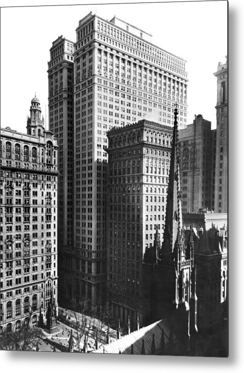 120 Broadway Metal Print featuring the photograph The New Equitable Building by Underwood Archives
